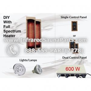 DIY Kits in Full Spectrum Infrared Heaters - 600 Watts