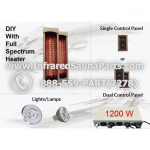 DIY Kits in Full Spectrum Infrared Heaters - 1200 Watts