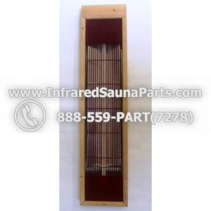 INFRARED SAUNA HEATER WITH HOUSING / COMPLETE ASSEMBLY IN RED 13 INCH
